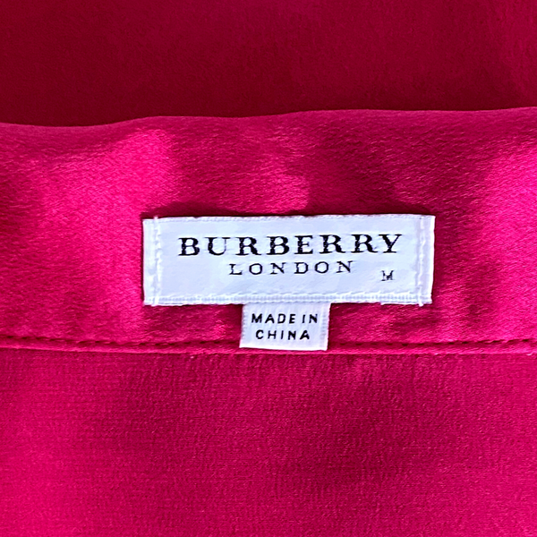 BB London Raspberry Silk Pajama Set