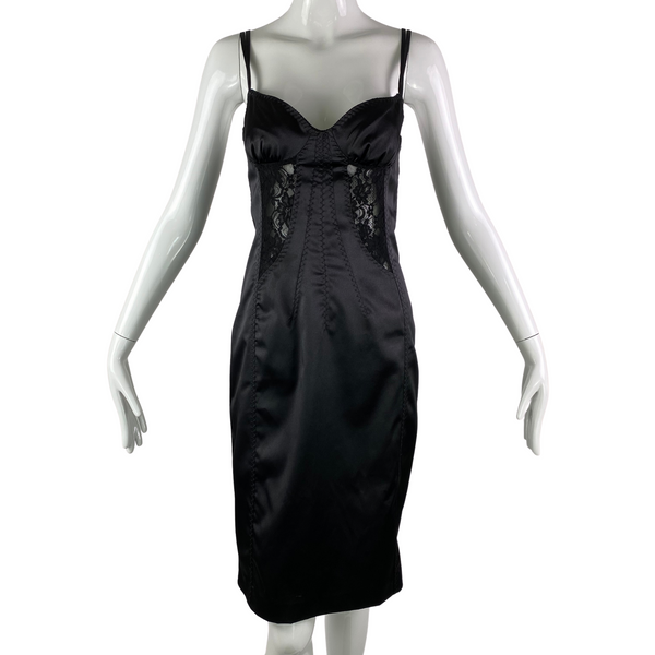 D&G Dolce & Gabbana Black Corset Dress