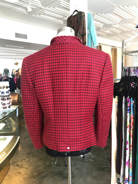 Louis Feraud Wool Red Jacket