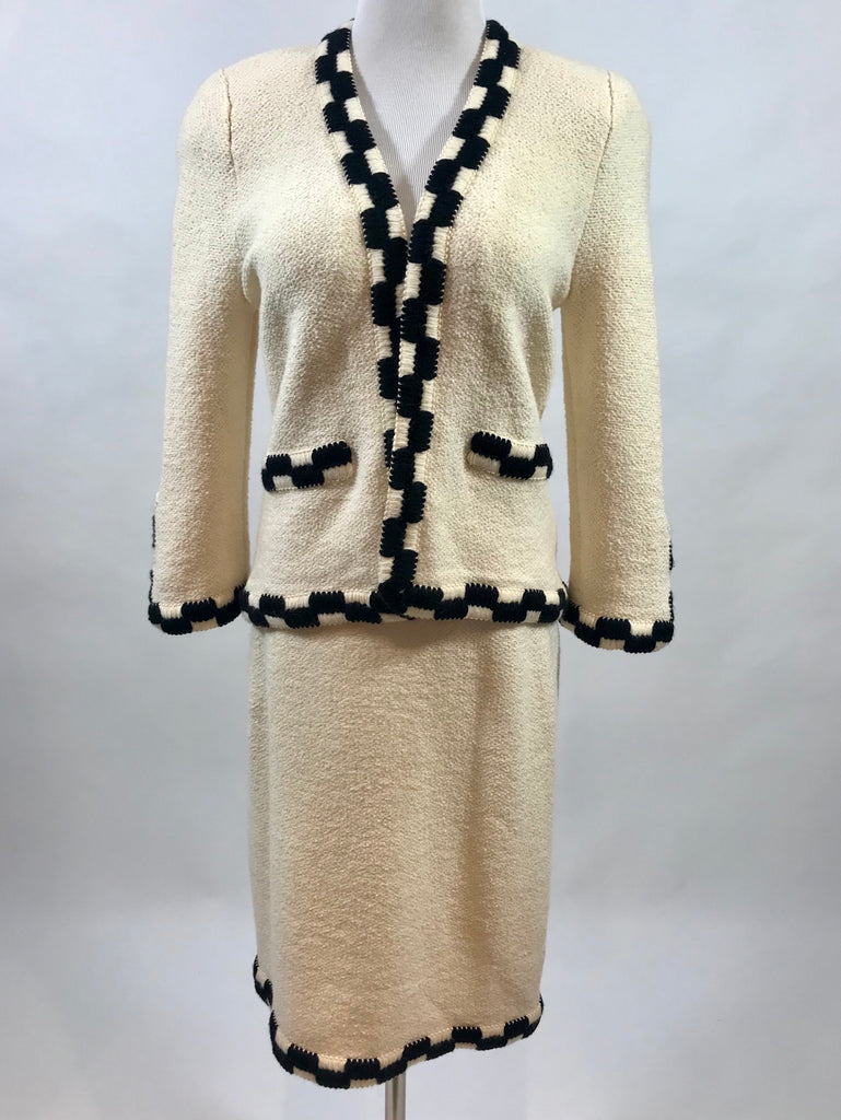 70's Adolfo New York Wool Skirt Suit