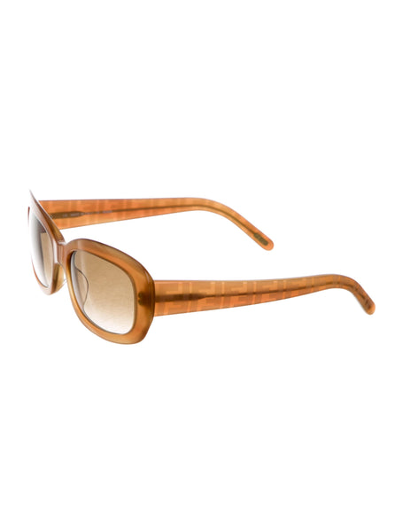 Fendi Logo Gradient Lens Sunglasses