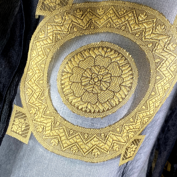 Huminska NY Black + Gold Silk Top