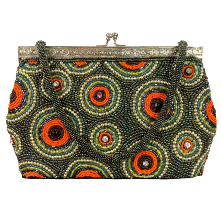 Retro Beaded Small Hand Bag