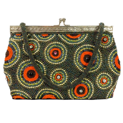 Vintage Beaded Hard Purse