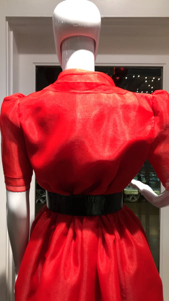 William Travilla Red Dress