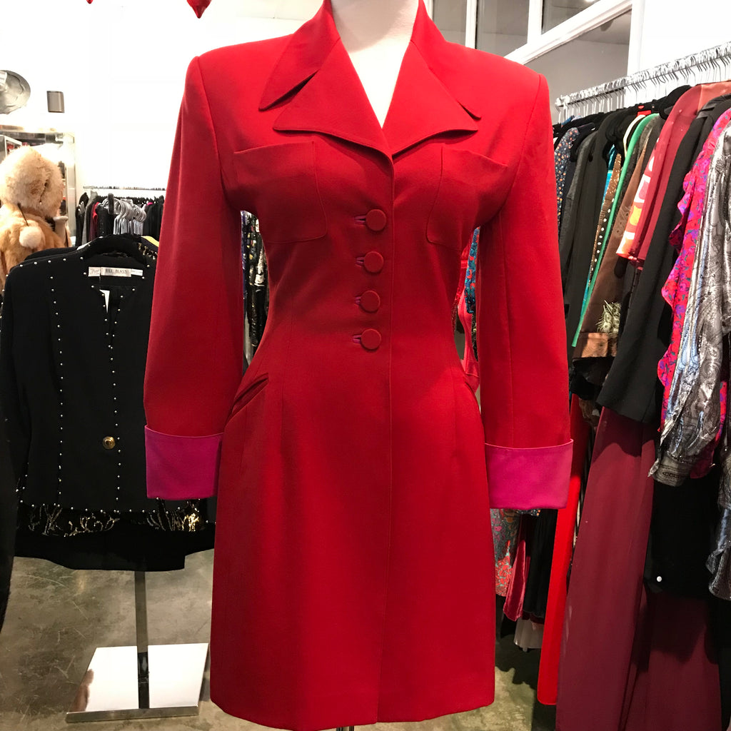Lolita Lempicka Red Coat Dress - Size 40