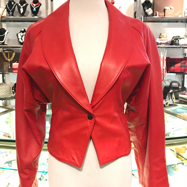 Accente Red Leather Jacket