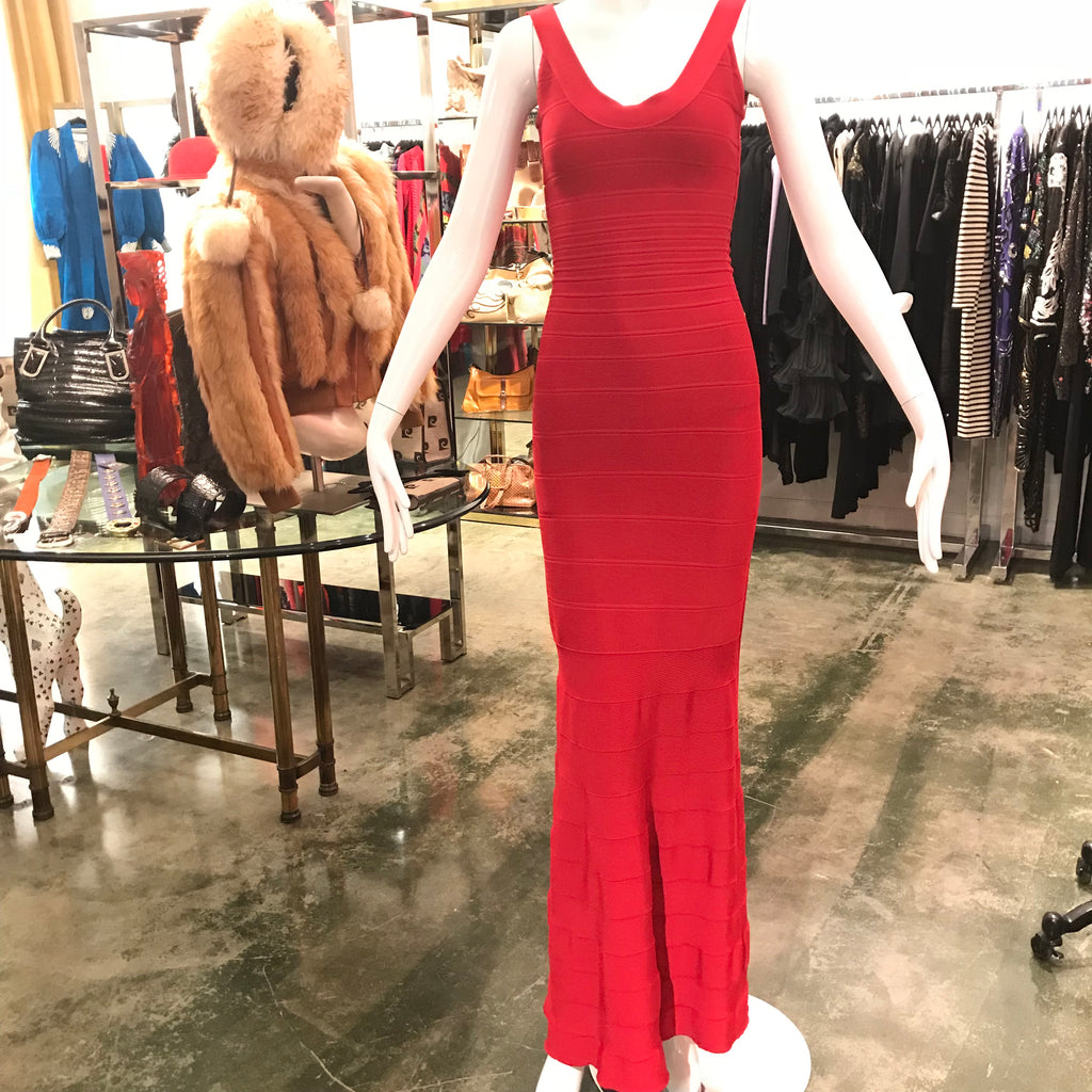 Herve Leger Red Bandage Gown