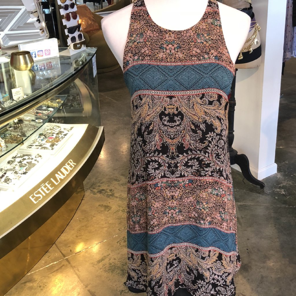 Lavender Brown Silk Dress