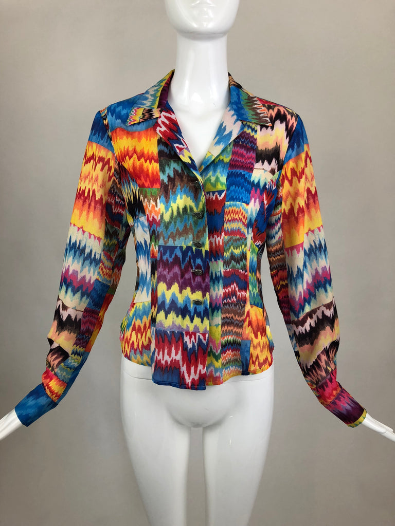 Todd Oldham Multicolor Blouse