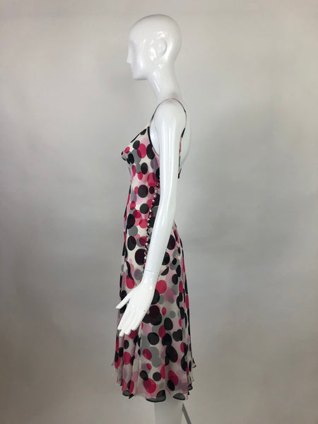 ESCADA Silk Polka Dot Dress