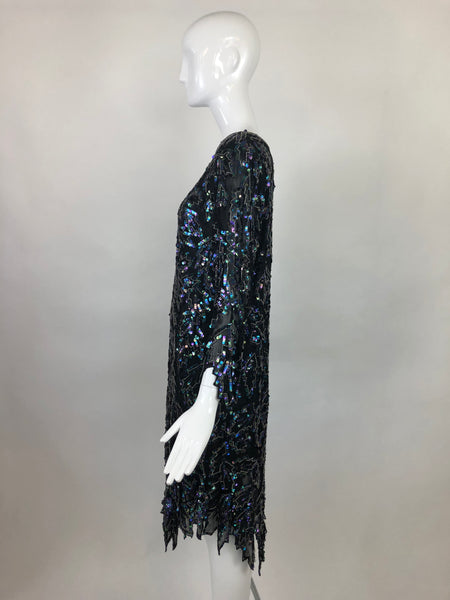 Saint Honore Sequin 60's Dress