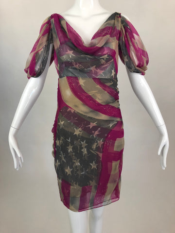 Catherine Malandrino Flag Print Dress