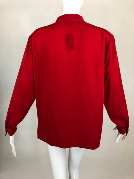 Pierre Cardin 80's Red Blouse