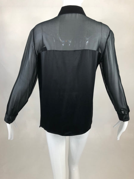 Black Tie Oleg Cassini Blouse