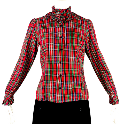 Evelyn de Jonge Plaid Blouse