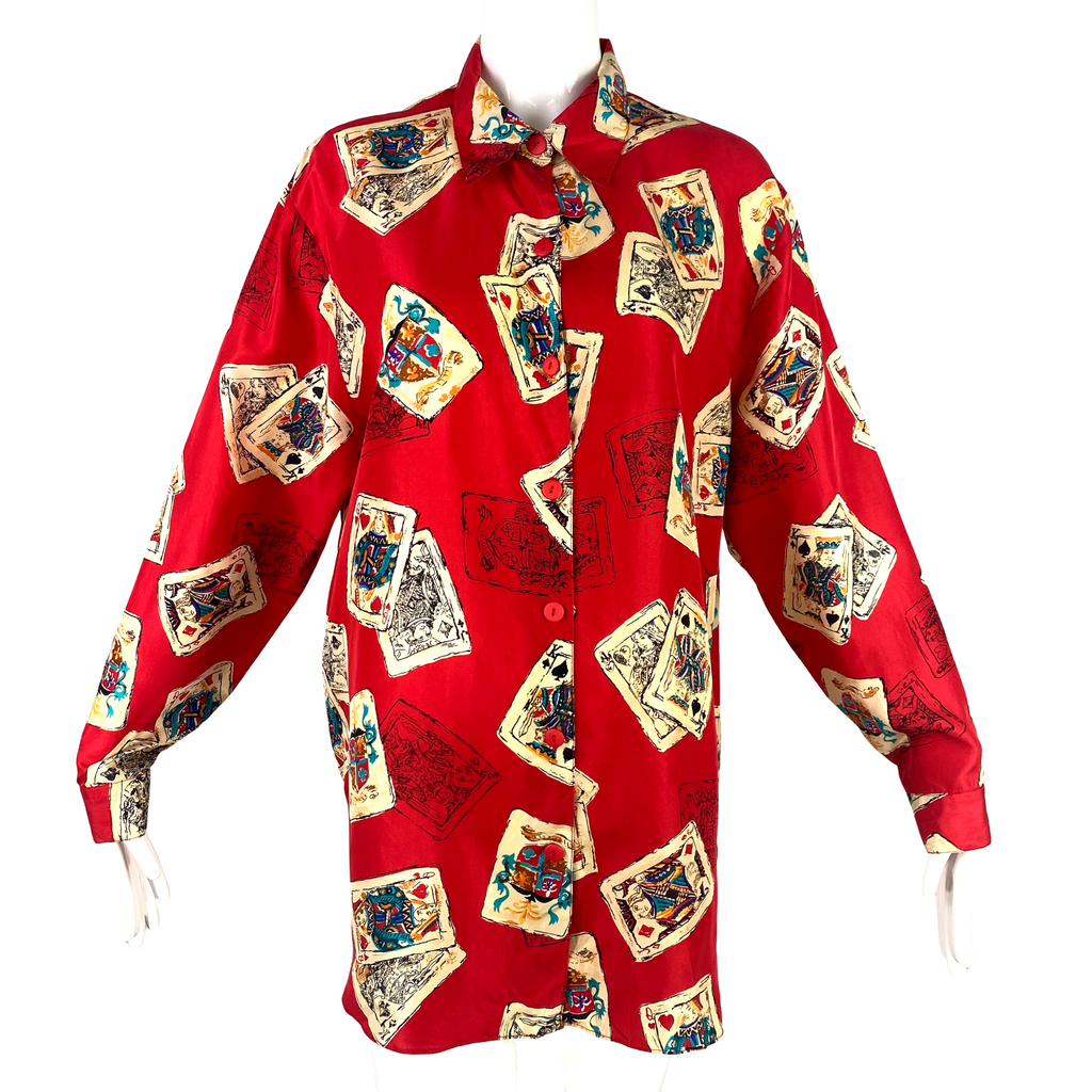 Diane Von Furstenberg Red Print Top