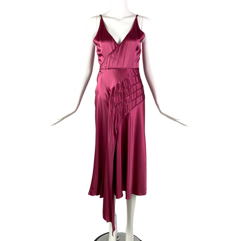 Raspberry Silk Dress