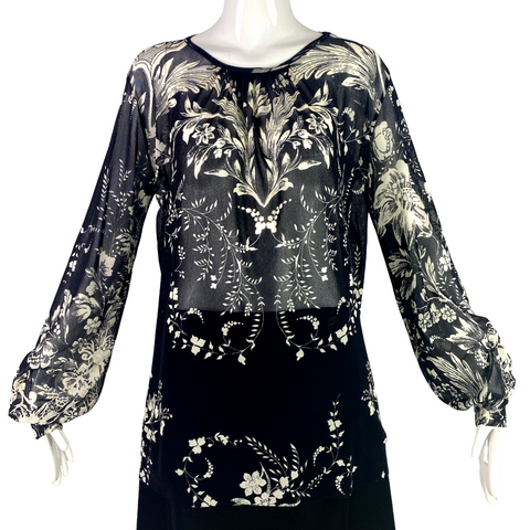 Fuzzi Sheer Print Top