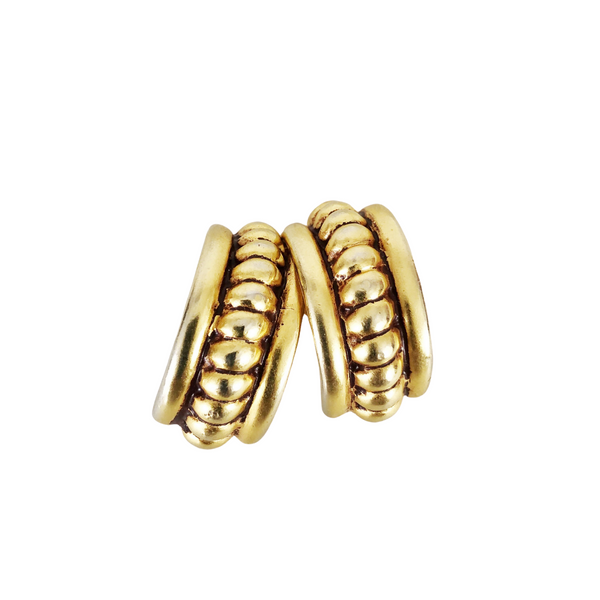 Ben Amun Gold Clip Earrings
