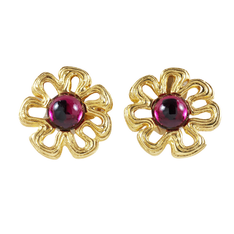 Givenchy Flower Clip Earrings