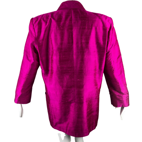 80's Linda Allard for Ellen Tracy Silk Fuschia Jacket / Blouse