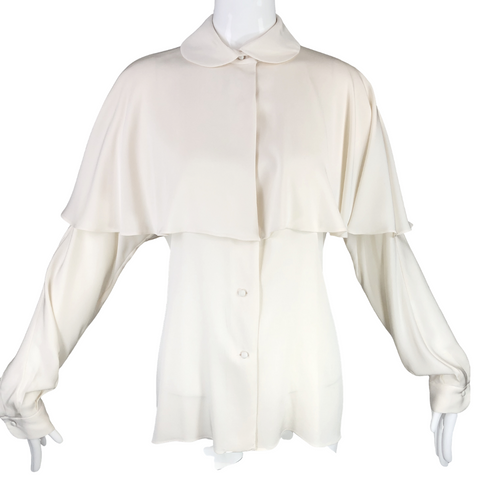 Ralph Lauren 80's Cream Silk Blouse
