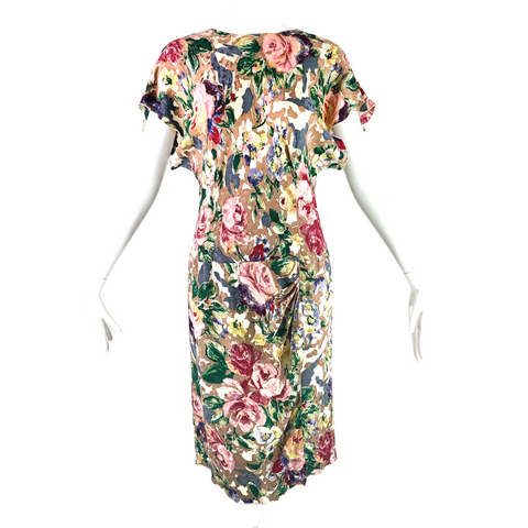 Ms. Holly Harp Silk Floral Dress