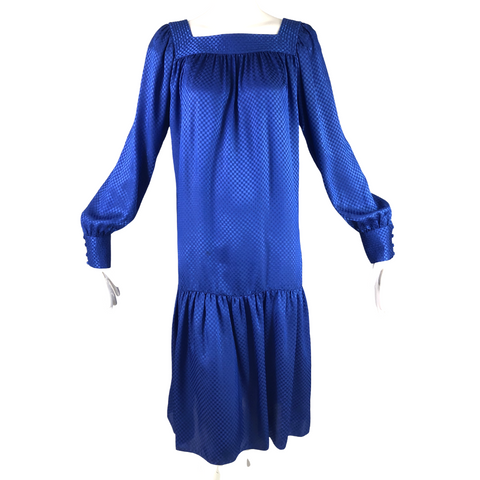 Pierre Cardin Blue Squares Dress
