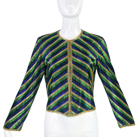 Victoria Royal Ltd. 80's Beaded Blouse / Jacket