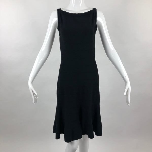 Alaia Paris Fit & Flare Black Mini Dress