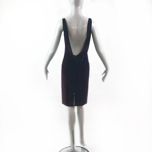 Douglas Hannant Velvet Burgundy Dress