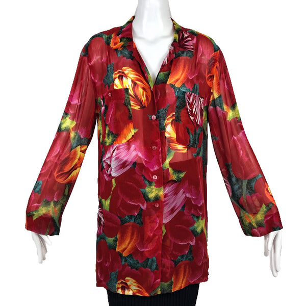 Chacok Red Floral Top
