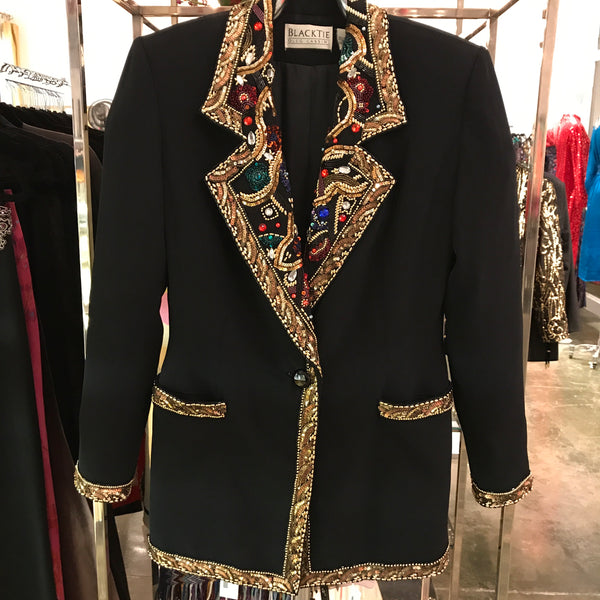 Oleg Cassini BlackTie Sequin Jacket