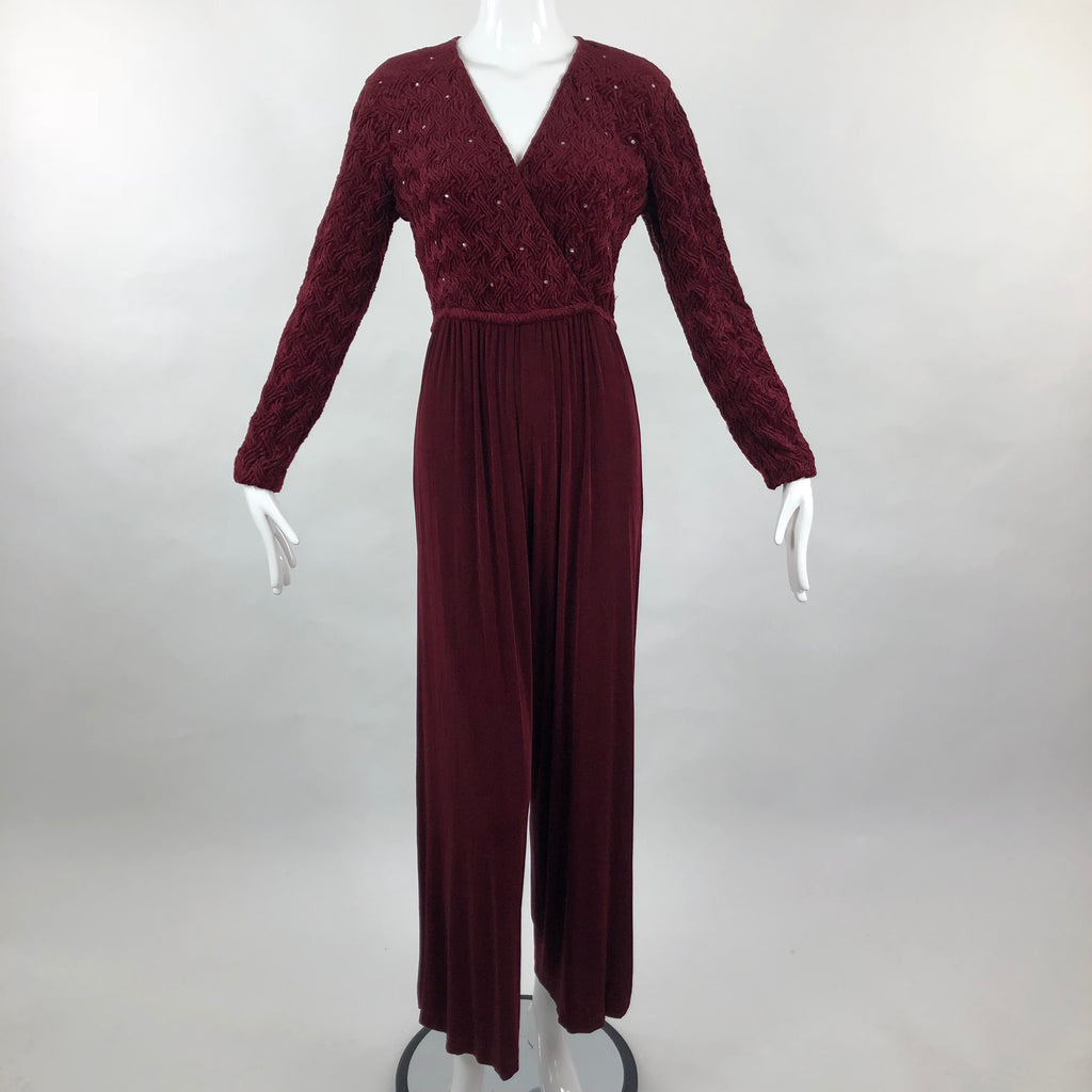 Pipe Dreams Palm Springs Burgundy Jumpsuit