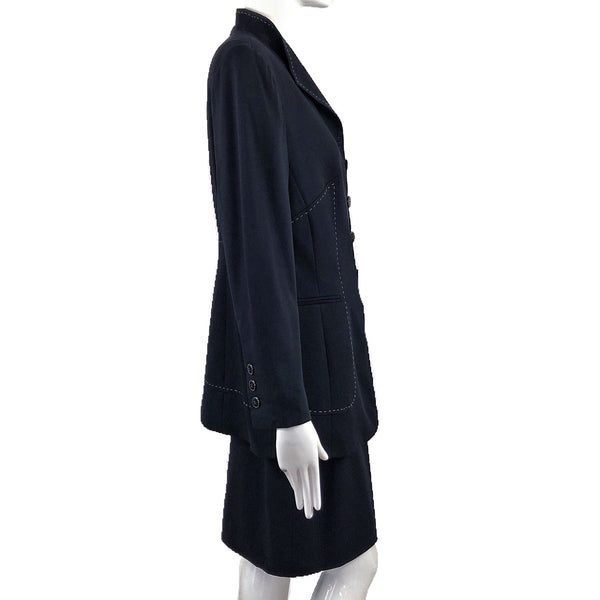 Escada 80's Navy Skirt Suit