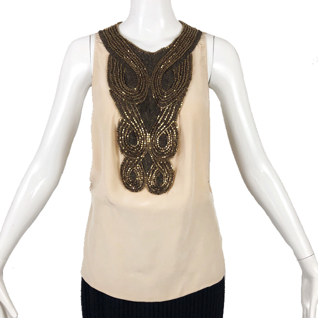 Phillip Lim Nude Beaded Top