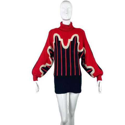 Pierre Cardin 70's Abstract Sweater