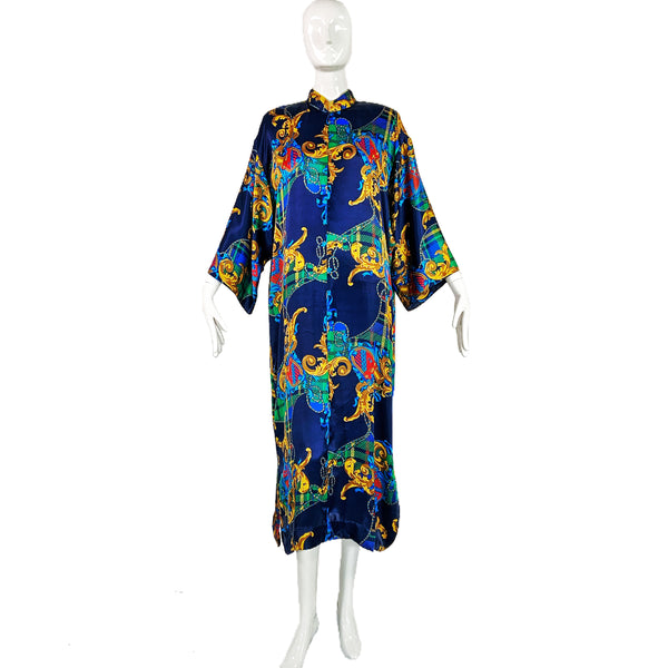 80's Ruth Norman Saks Fifth Avenue Baroque Caftan with Pockets