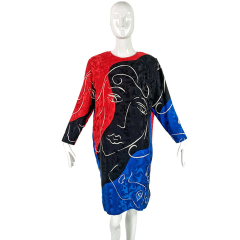 80's Anne Crimmons for U.M.I. Collections Silk Dress