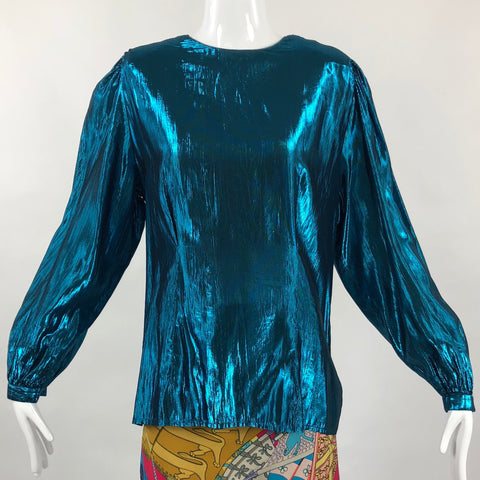 JH Collectibles Lamé 80's Blouse