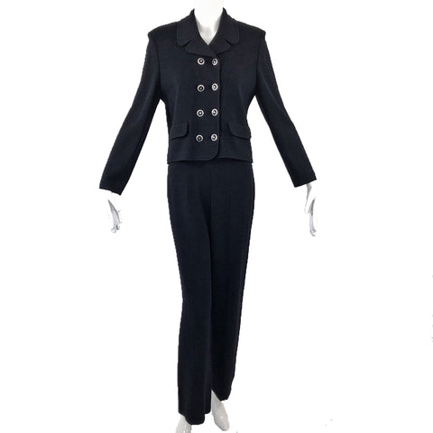 St. John Collection Black Knit Pant Suit