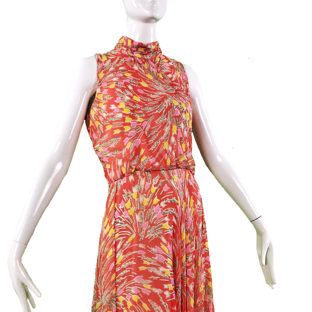 70's Boutique Sport Wear by Harold Levine Silk Dress