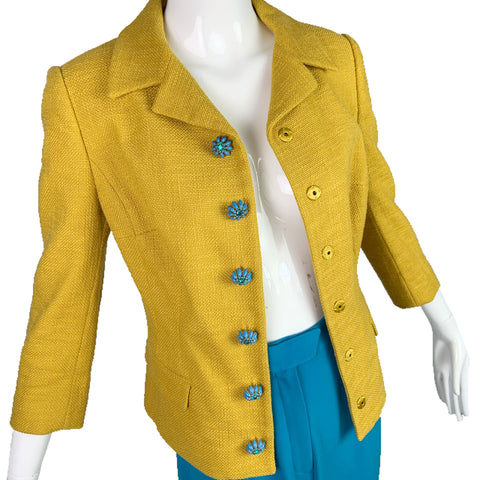 Dolce & Gabbana Yellow Knit Jacket