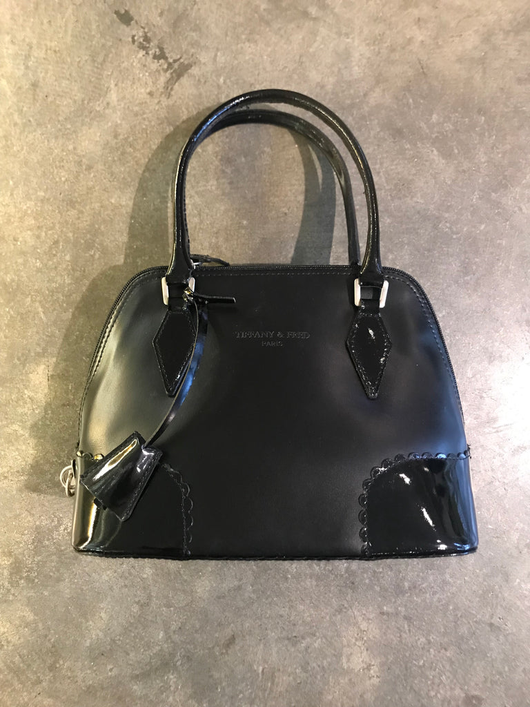 Tiffany + Fred Paris Sm. Black Bag