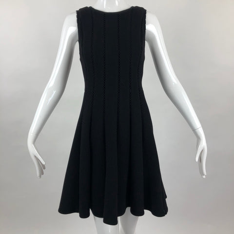 Rebecca Taylor Black Inset Sleeveless Black Dress