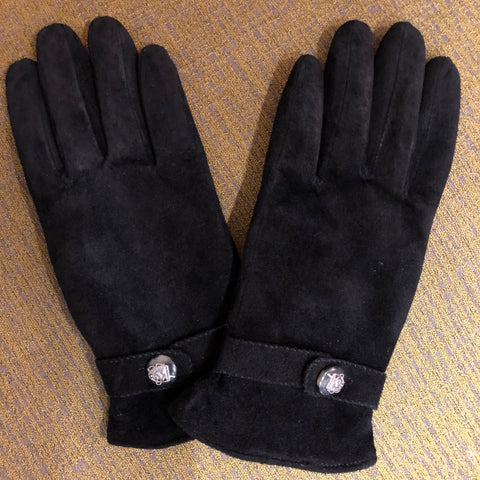 Ralph Lauren Black Pig Suede Gloves