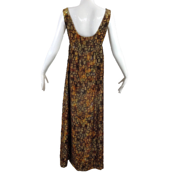 Neiman Marcus 50's Gold Lame Evening Dress