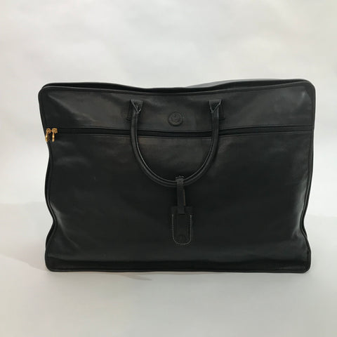Fendi Large Black Leather Weekender Bag