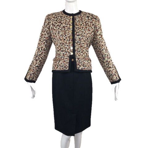 80's Bill Blass Neiman Marcus Skirt Suit